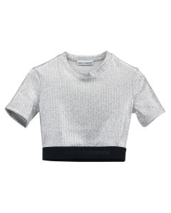 Paco Rabanne TOP CROPPED TOP / P040 : SILVER