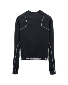 Paco Rabanne TOP TOP LONG SLEEVES / M002 : BLACK-WHITE