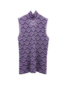 Paco Rabanne TOPTOP SHORT SLEEVES / V511 : PURPLE ARGYLE 70S