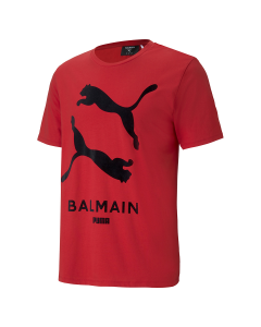 PUMA x BALMAIN GRAPHIC TEE / 11:HIGH RISK RED
