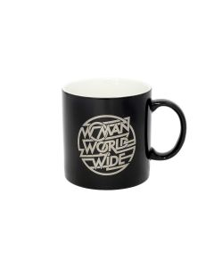 "JUSTICE x PHIRE WIRE ""WOMAN WORLDWIDE"" MUG / BLACK"