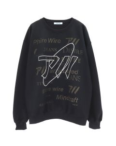 PHIRE WIRE #MINDCRAFT CREW SWEAT / BLACK