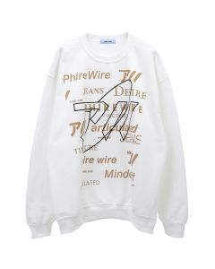 PHIRE WIRE #MINDCRAFT CREW SWEAT / WHITE