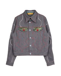 PENULTIMATE DENIM JACKET / GREY MULTI