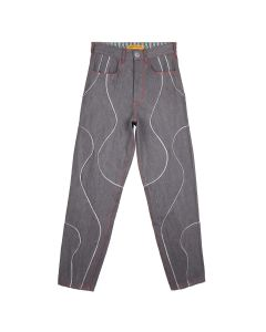 PENULTIMATE DENIM PANTS / GREY MULTI