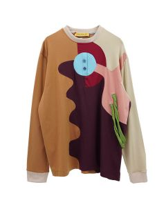 PENULTIMATE LS T-SHIRT / BROWN MULTI