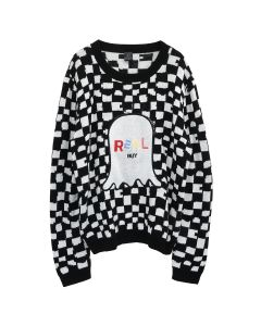 REAL BUY KNIT JUMPER / BLACK-WHITE