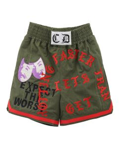 READYMADE x Cali Thornhill Dewitt BOXING SHORTS (CD) / KHAKI