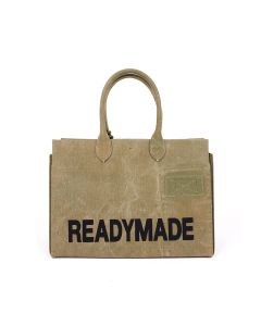 READYMADE SHOPPING BAG35 LOGO / KHAKI
