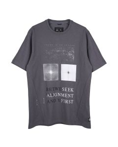 Reigning Champ ALIGNMENT T-SHIRT-HEAVYWEIGHT JERSEY / 096 : CARBON