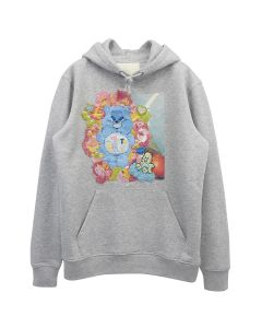 ROBERTA EINER BLUE CARE BEAR HOODIE / GRAY