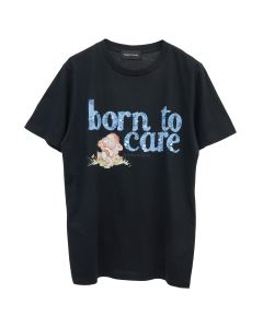 ROBERTA EINER BORN TO CARE T-SHIRT / BLACK