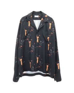 RHUDE L/S BUTTON UP / BLACK
