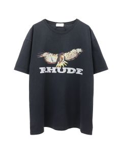 RHUDE EAGLE TEE / BLACK