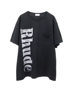 RHUDE RHUDE POCKET TEE / BLACK