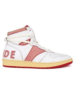 RHUDE RHUDE BBALL-HI / WHITE LEATHER-RED