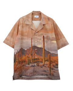 RHUDE CACTUS BUTTON UP / BROWN