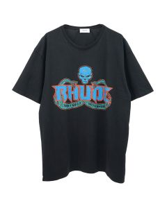 RHUDE SKULL AND SNAKE TEE / BLACK