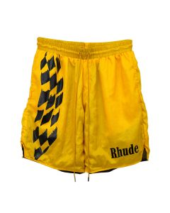 RHUDE WARM UP SHORT / YELLOW