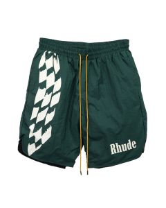 RHUDE WARM UP SHORT / GREEN