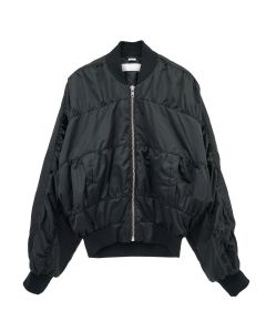 RANDOM IDENTITIES SATIN BOMBER JACKET / BLACK