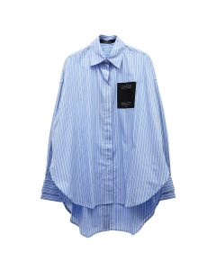 rokh LAYER SHIRT / 061 : BLUE AND WHITE PINSTRIPE