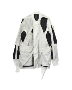 [お問い合わせ商品] Rick Owens RR COAT/CUT-OUT ROD FLIGHT / 6109 : OYSTER-B