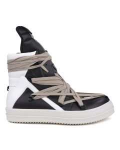 [お問い合わせ商品] Rick Owens RU SHOES/GEOBASKET / 9110 : BLACK-CHALK WHITE