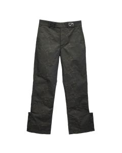 SHOOP DOUBLE BUTTON BOOTCUT TROUSERS / CRACKED NYLON