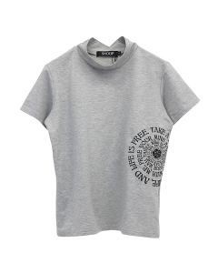 SHOOP FREE LIFE TURTLENECK T-SHIRT / GREY
