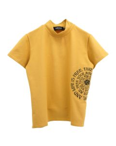 SHOOP FREE LIFE TURTLENECK T-SHIRT / MUSTARD