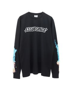 SSS World Corp SSSUBSPACE GO HOME LIBERTY STATUE LONGSLEEVE TEE / BLACK