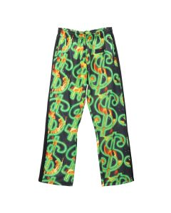 SSS World Corp FIRE ALL OVER PRINT DOLLAR FIRE TRACK PANT / BLACK