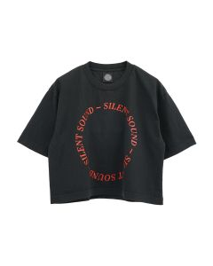 Silent Sound S/S WOMEN'S OVERSIZED CROPPED / BLACK-RED