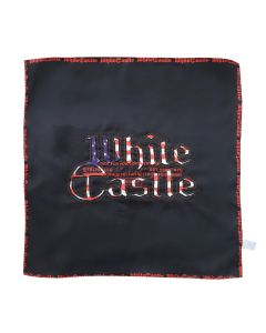 TELFAR WHITE CASTLE CUT OUT SILK SCARF / BLACK