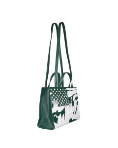 TELFAR MEDIUM PRINTED SHOPPER-FLAG / 019 : DARK OLIVE