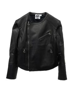 TELFAR LEATHER MOTO JACKET / 002 : BLACK
