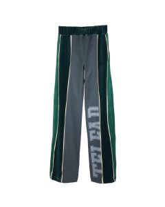 TELFAR VELOUR TRACK PANT / 028 : GREEN-OFF BLACK