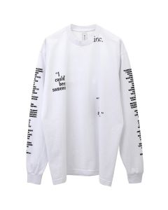 The Incorporated BEEN SOMEONE L/S T-SHIRT / WHITE
