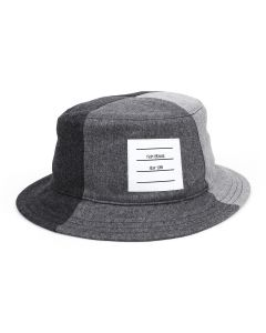 [お問い合わせ商品] THOM BROWNE. 4 PANEL CLASSIC BUCKET HAT IN SUPER 120'S WOOL / 025 : DARK GREY