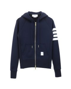 [お問い合わせ商品] THOM BROWNE. ZIP UP HOODIE IN CLASSIC LOOP BACK W/ ENGINEERED 4 BAR / 415