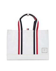 [お問い合わせ商品] THOM BROWNE. ZIP TOP EAST WEST TOTE W/ RWB TWILL HANDLE IN BUBBLE WRAP / 100