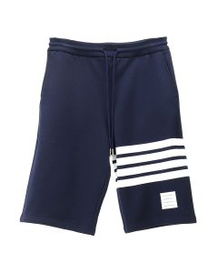 [お問い合わせ商品] THOM BROWNE. CLASSIC SWEAT SHORTS WITH ENGINEERED 4 BAR STRIPES IN CLASSIC LOOP BACK / 461 : NAVY
