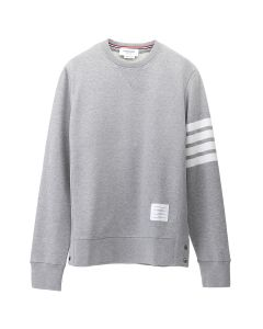 [お問い合わせ商品] THOM BROWNE. CLASSIC SWEATSHIRT WITH ENGINEERED 4 BAR IN CLASSIC LOOP BACK / 068 : LIGHT GREY