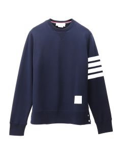 [お問い合わせ商品] THOM BROWNE. CLASSIC SWEATSHIRT WITH ENGINEERED 4 BAR IN CLASSIC LOOP BACK / 461 : NAVY