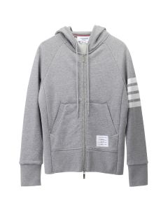 [お問い合わせ商品] THOM BROWNE. CLASSIC FULL ZIP HOODIE WITH ENGINEERED 4-BAR IN CLASSIC LOOP BACK / 068 : LIGHT GREY