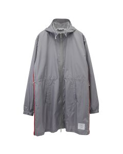 [お問い合わせ商品] THOM BROWNE. ZIP UP PARKA IN RIPSTOP WITH RWB STRIPE / 055