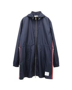 [お問い合わせ商品] THOM BROWNE. ZIP UP PARKA IN RIPSTOP WITH RWB STRIPE / 415