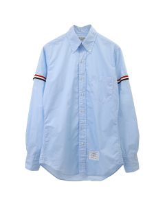 [お問い合わせ商品] THOM BROWNE. CLASSIC LONG SLEEVE BUTTON DOWN POINT COLLAR SHIRT W/ GG ARMBAND IN SOLID POPLIN / 480