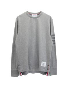[お問い合わせ商品] THOM BROWNE. LONG SLEEVE RUGBY TEE IN MED WEIGHT JERSEY W/ TONAL 4 BAR / 055 : LIGHT GREY